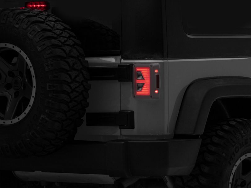 Axial Vision LED Tail Lights; Great White (07-18 Jeep Wrangler JK)