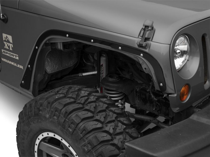 Steinjager Front Fender Deletes; Black (07-18 Jeep Wrangler JK)