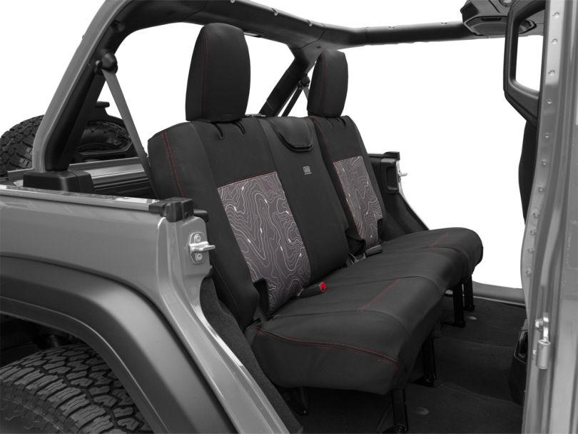 ARB Seat Skin Rear Seat Covers; Black (18-20 Jeep Wrangler JL 4 Door)