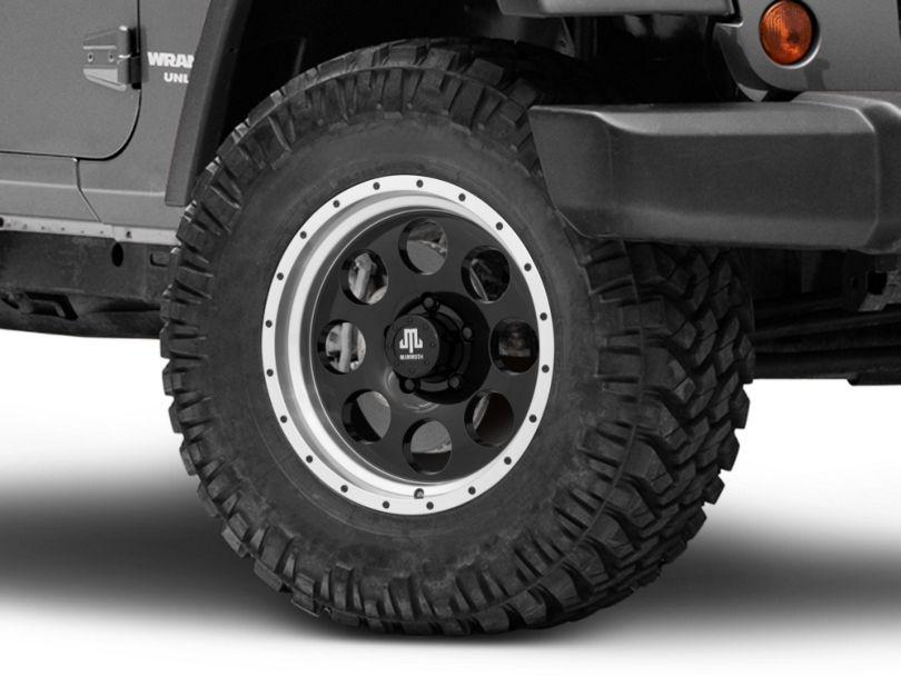 Mammoth 8 Aluminum Beadlock Black Wheel; 17x9 (07-18 Jeep Wrangler JK)