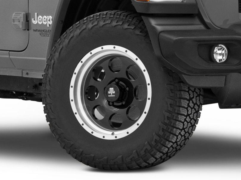 Mammoth 8 Aluminum Beadlock Black Wheel; 17x9 (18-20 Jeep Wrangler JL)