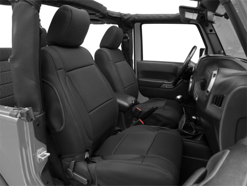 Rugged Ridge Neoprene Front Seat Covers; Black (11-18 Jeep Wrangler JK)
