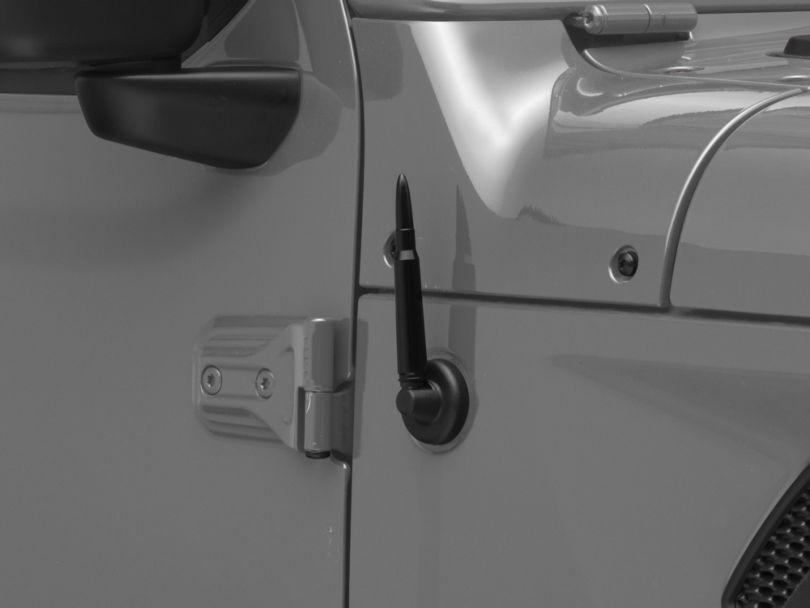 .50 Cal Bullet Antenna; Black (07-20 Jeep Wrangler JK & JL)