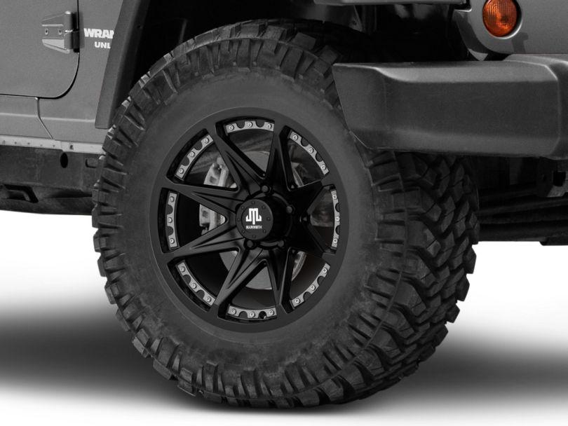 Mammoth Type 88 Matte Black Wheel; 17x9 (07-18 Jeep Wrangler JK)