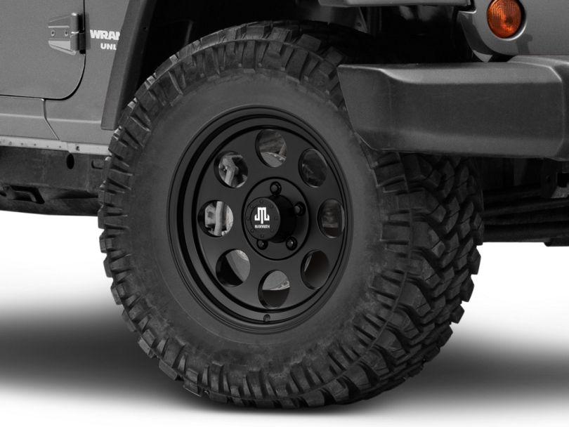 Mammoth 8 Aluminum Matte Black Wheel; 17x9 (07-18 Jeep Wrangler JK)