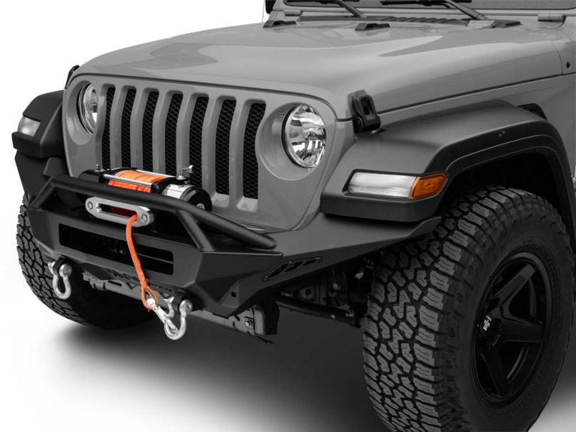 Addictive Desert Designs Stealth Fighter Winch Front Bumper with Top Hoop (18-20 Jeep Wrangler JL Rubicon)