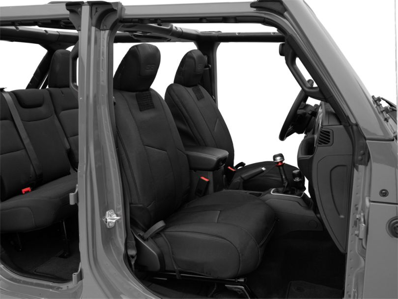 Smittybilt G.E.A.R. Custom Fit Front Seat Covers; Black (18-20 Jeep Wrangler JL)