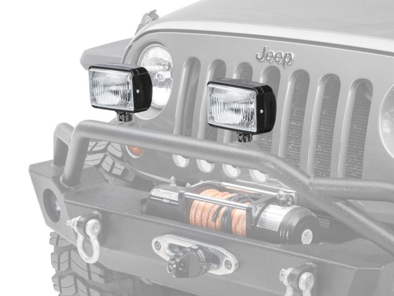 Rugged Ridge 5x7 in. Halogen Fog Light - Single