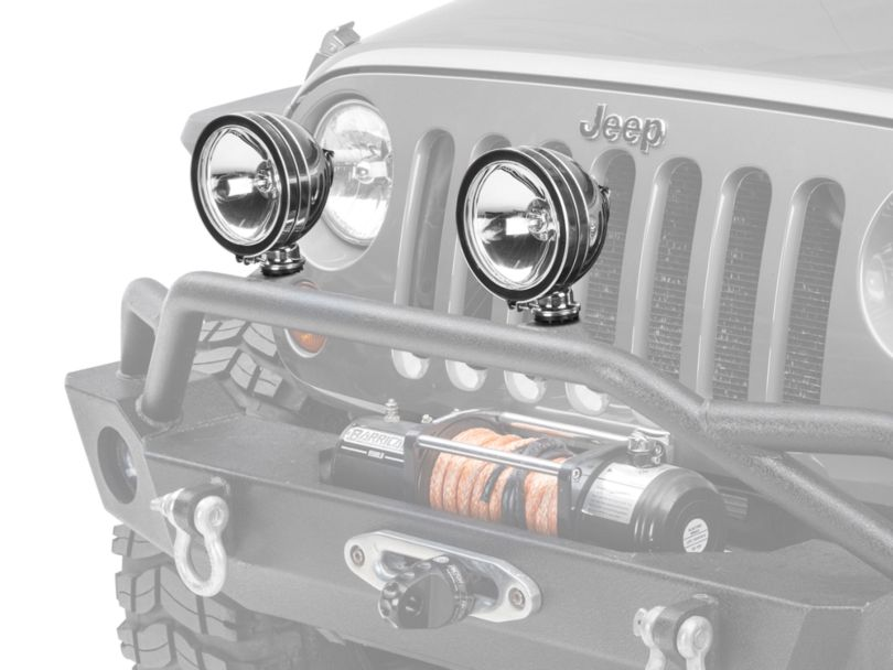 Rugged Ridge 6-Inch Halogen Fog Light; Stainless Steel; Single