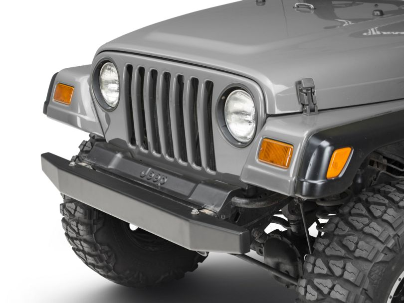 Olympic 4x4 50 in. Front Rock Bumper - Textured Black (87-06 Jeep Wrangler YJ & TJ)