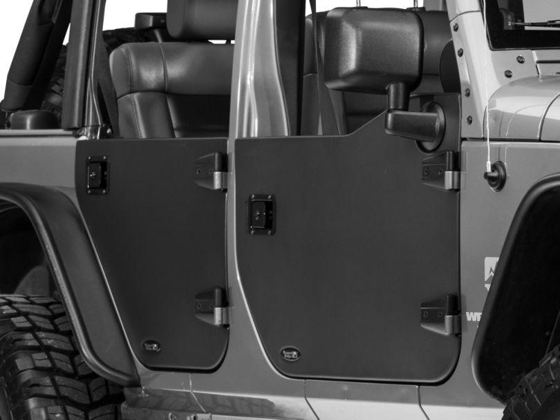Rugged Ridge Rear Half Door - Pair (07-18 Jeep Wrangler JK)