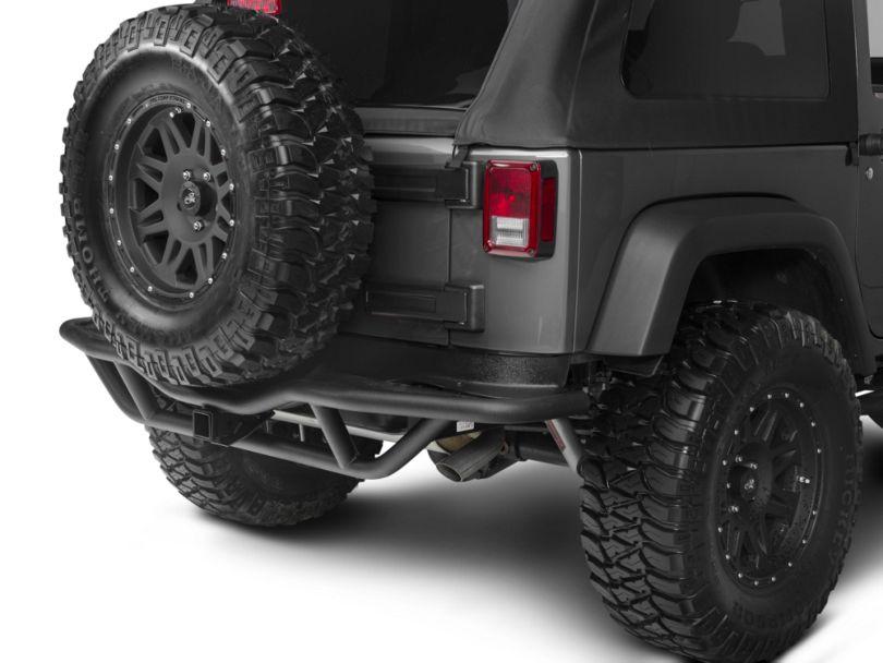Rugged Ridge RRC Rear Bumper w/ Hitch - Textured Black (07-18 Jeep Wrangler JK)