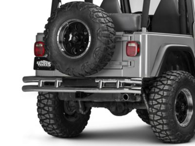 Add Rugged Ridge Tubular Rear Bumper - Stainless Steel (87-06 Wrangler YJ & TJ)