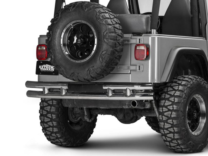 Rugged Ridge Tubular Rear Bumper w/o Hitch - Stainless Steel (87-06 Jeep Wrangler YJ & TJ)