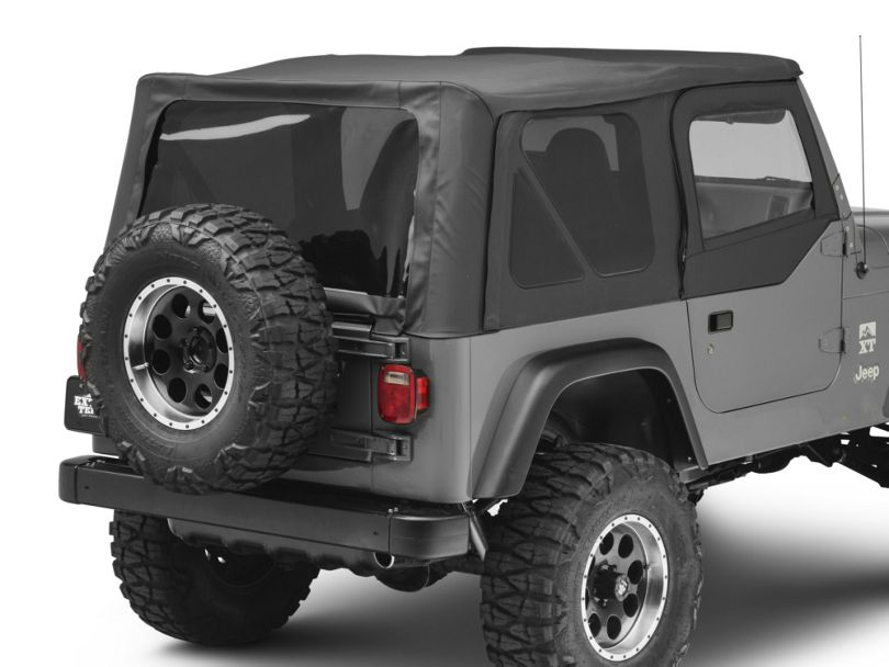 Bestop Replace-A-Top with Tinted Windows; Black Denim (97-02 Jeep Wrangler TJ w/ Half Doors)