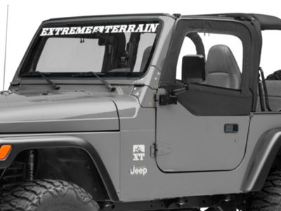 Smittybilt Replacement Upper Door Skin w/ Frame - Driver Side (97-06 Jeep Wrangler TJ)