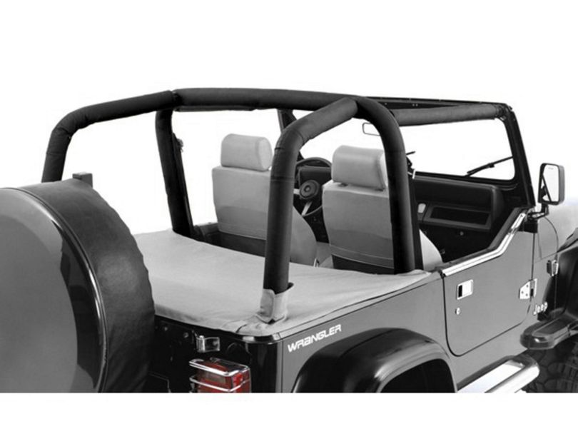 Rugged Ridge Full Roll Bar Cover Kit - Black Diamond (97-02 Jeep Wrangler TJ)
