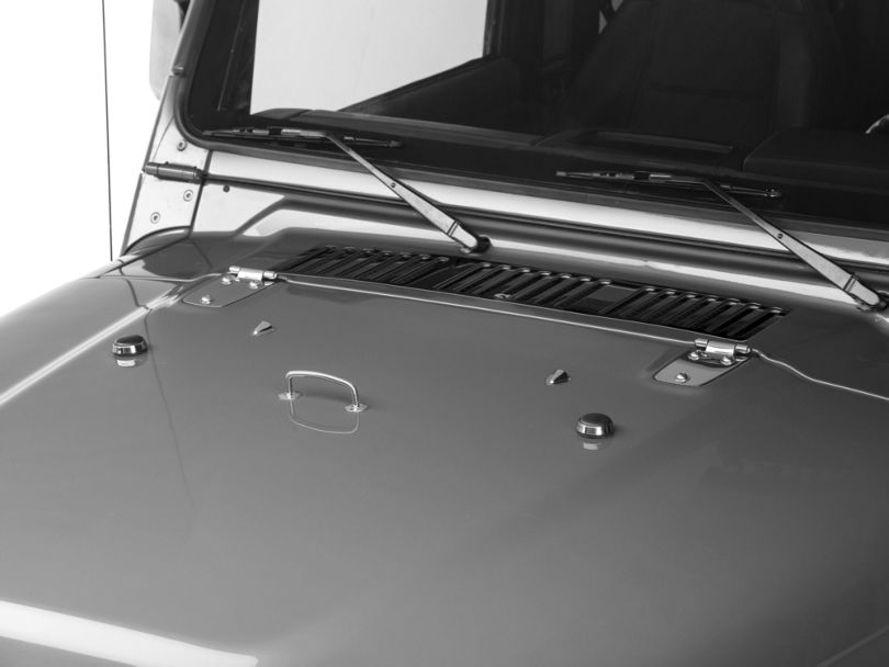 Rugged Ridge Hood Dress Up Kit - Stainless Steel (97 Jeep Wrangler TJ)