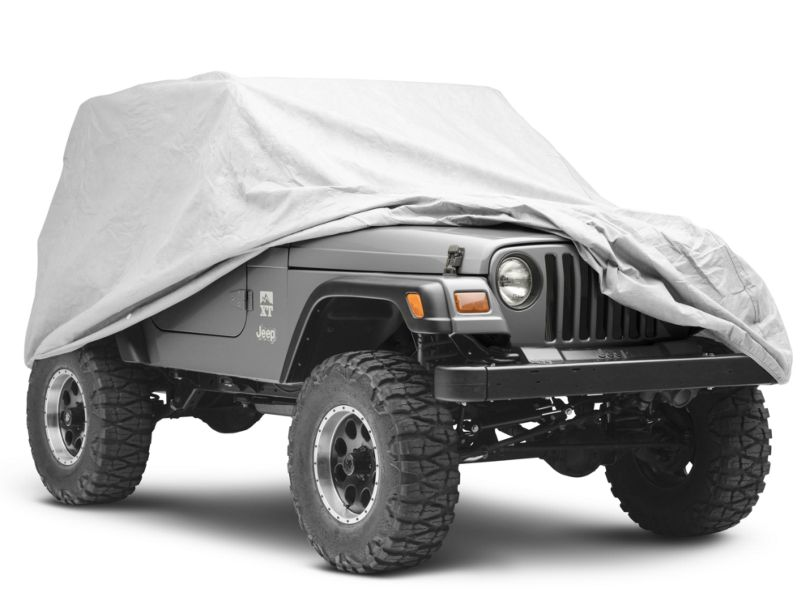 Rugged Ridge Full Car Cover; Heavy Duty (87-06 Jeep Wrangler YJ & TJ)