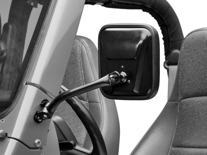 Rugged Ridge Black CJ Style Mirror Kit (97-06 Jeep Wrangler TJ)