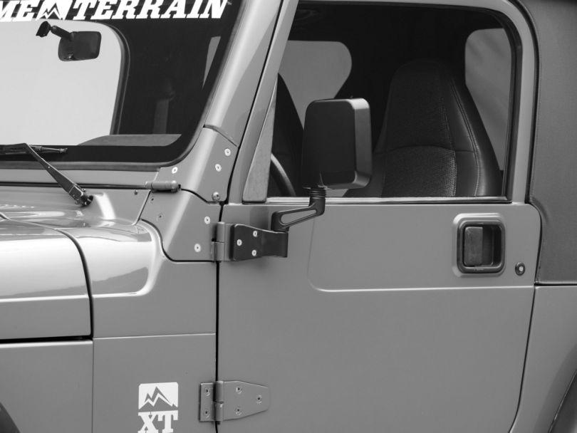Rugged Ridge Black Dual Focal Point Mirrors (87-02 Jeep Wrangler YJ & TJ)
