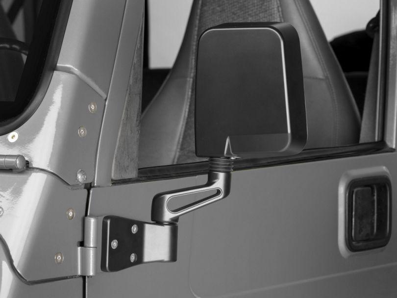 Rugged Ridge Black Mirrors (87-02 Jeep Wrangler YJ & TJ)