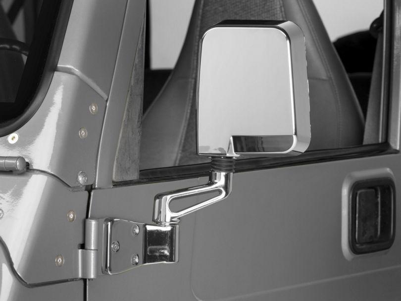 Rugged Ridge Dual Focus Mirrors; Chrome (87-02 Jeep Wrangler YJ & TJ)