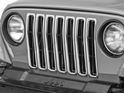 Rugged Ridge Grille Inserts - Chrome (97-06 Jeep Wrangler TJ)