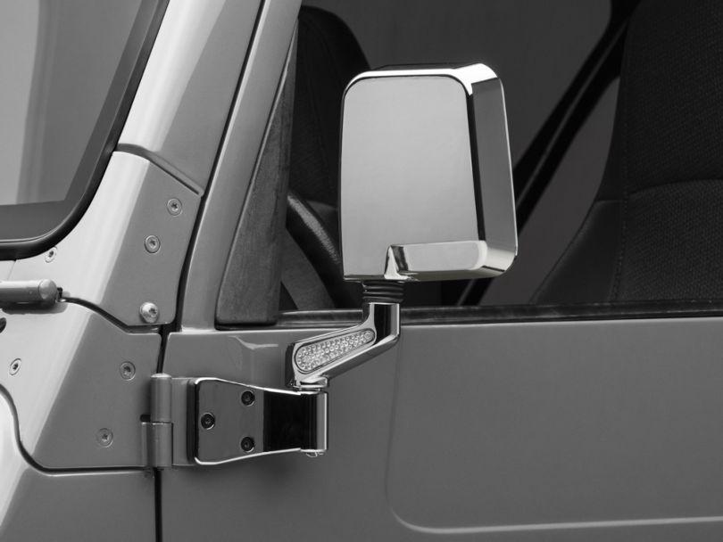 Rugged Ridge Chrome Mirrors w/ LED Lights (87-02 Jeep Wrangler YJ & TJ)