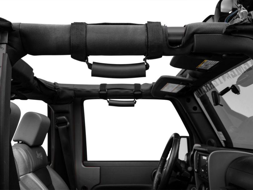 Rugged Ridge Deluxe Grab Handles; Black (87-20 Jeep Wrangler YJ, TJ, JK & JL)