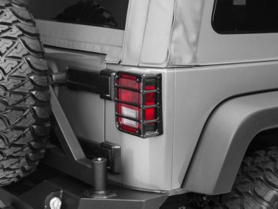 Rugged Ridge Euro Tail Light Guards - Black (07-18 Jeep Wrangler JK)