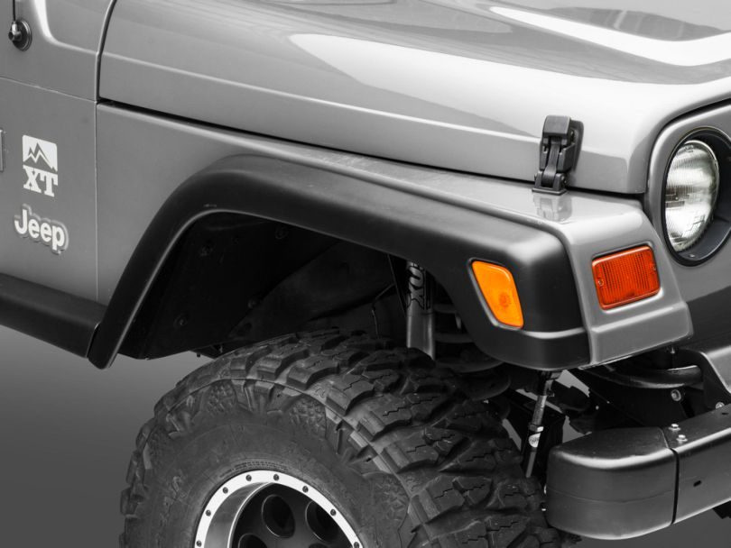 6-Piece Factory Style Fender Flares w/ 2 Front Extensions (97-06 Jeep Wrangler TJ)