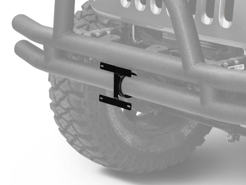 Rugged Ridge License Plate Bracket For 3 in. Tube Bumpers (87-20 Jeep Wrangler YJ, TJ, JK & JL)