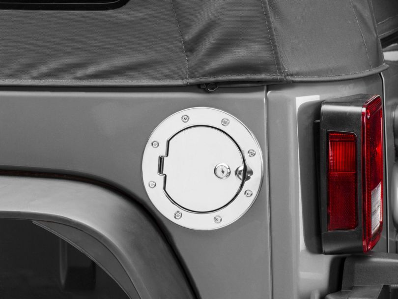Rugged Ridge Locking Stainless Steel Gas Hatch Cover (07-18 Jeep Wrangler JK)