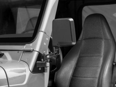 Rugged Ridge Mirror Relocation Brackets - Black (97-02 Jeep Wrangler TJ)