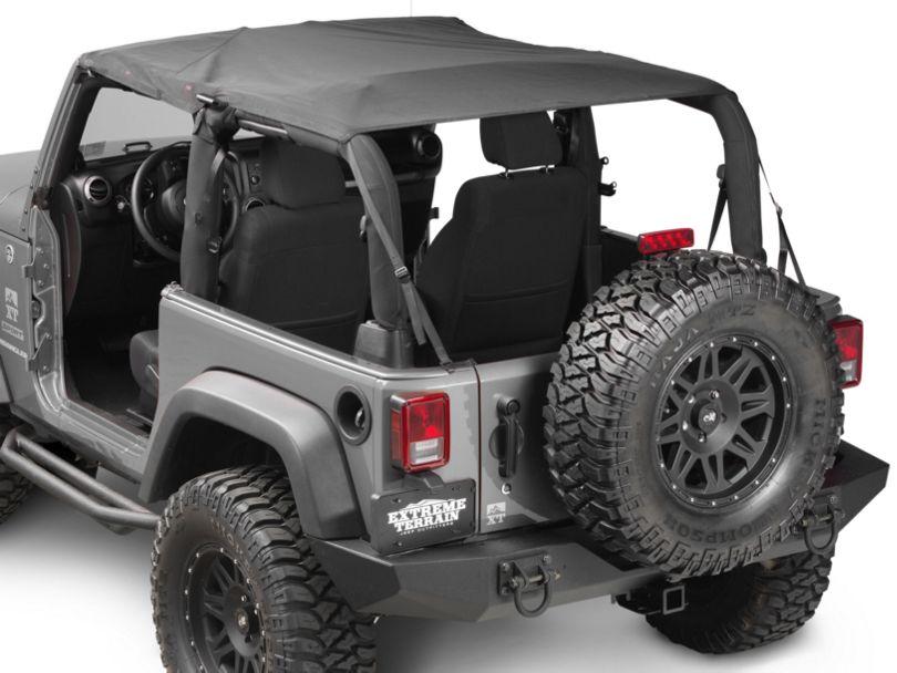 Rugged Ridge Mesh Summer Island Topper - Black (07-09 Jeep Wrangler JK 2 Door)