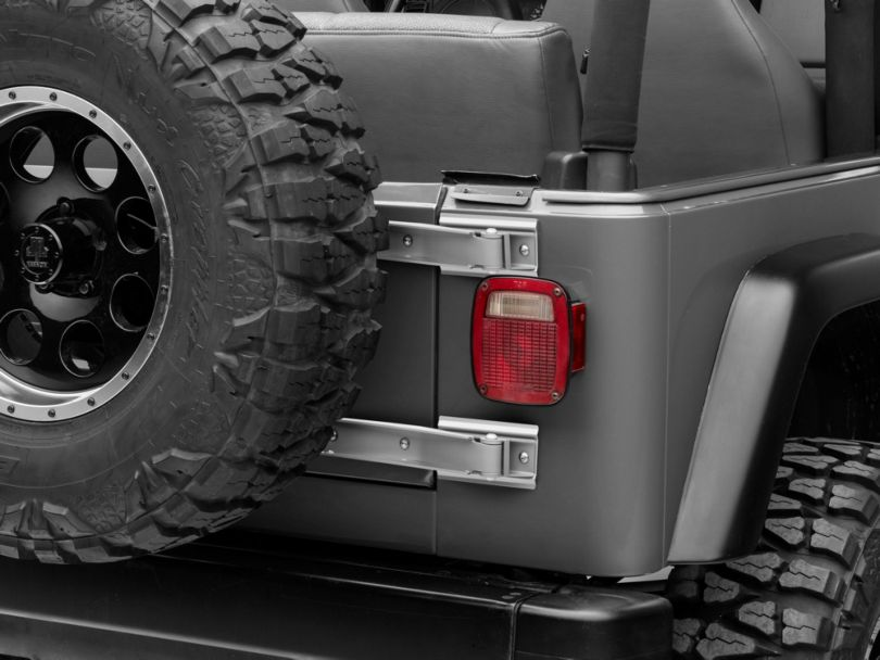 Rugged Ridge Tailgate Hinges - Stainless Steel (97-02 Jeep Wrangler TJ)
