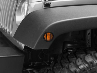 Add Rugged Ridge Side Marker Light Guards - Black