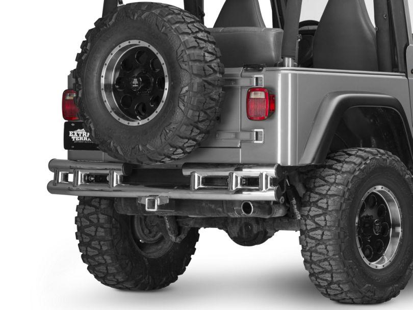 Rugged Ridge 3 in. Tubular Rear Bumper - Stainless Steel (87-06 Jeep Wrangler YJ & TJ)