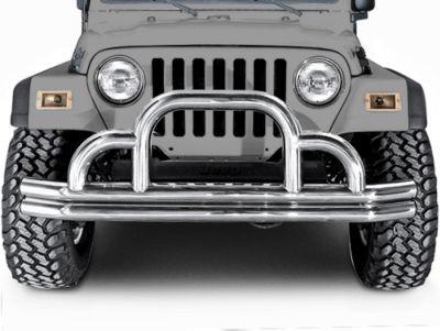 Add Rugged Ridge Tubular Front Bumper (87-06 Wrangler YJ & TJ)
