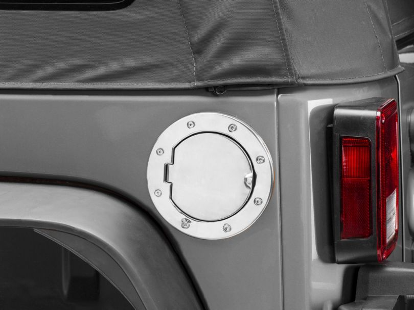 Rugged Ridge Stainless Steel Gas Hatch Cover (07-18 Jeep Wrangler JK)