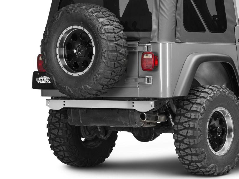 Rugged Ridge Rear Frame Crossmember Cover - Stainless Steel (97-06 Jeep Wrangler TJ)