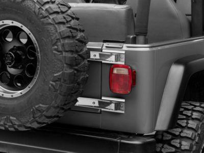 Rugged Ridge Tailgate Hinge - Stainless Steel - Pair (97-06 Jeep Wrangler TJ)