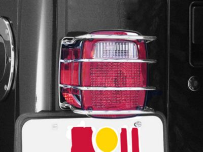 Rugged Ridge Stainless Steel Taillight Guards (87-06 Jeep Wrangler YJ & TJ)