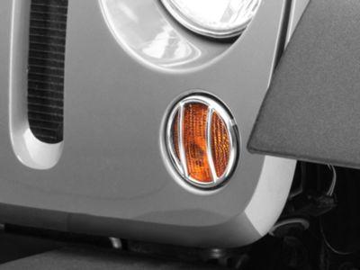 Rugged Ridge Turn Signal Light Guards - Stainless Steel (07-18 Jeep Wrangler JK)