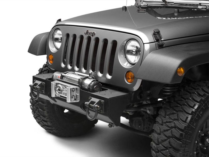 Rugged Ridge Modular XHD Winch Mount Front Bumper - Textured Black (07-18 Jeep Wrangler JK)