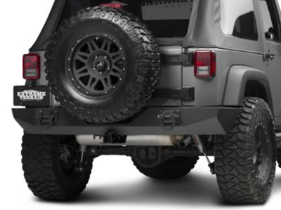 Add Rugged Ridge Xtreme Heavy Duty Rear Bumper - Textured Black (07-17 Wrangler JK)