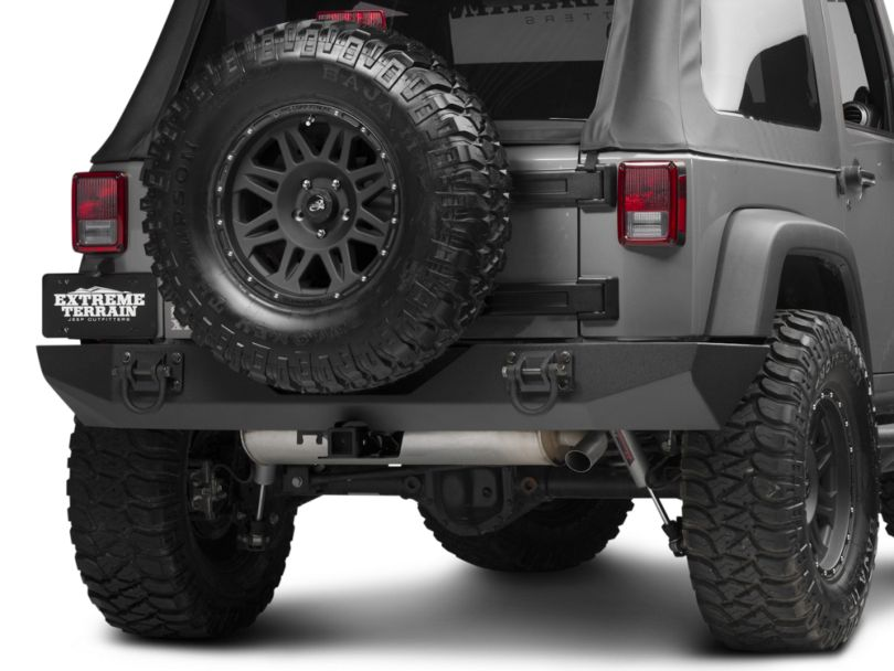 Rugged Ridge Xtreme Heavy Duty Rear Bumper - Textured Black (07-18 Jeep Wrangler JK)