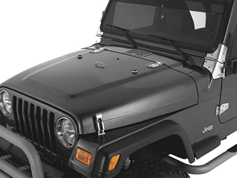 Rugged Ridge Hood Dressup Kit - Stainless Steel (98-06 Jeep Wrangler TJ)