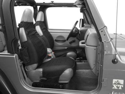 Rugged Ridge Seat Protectors - Black (87-06 Jeep Wrangler YJ & TJ)